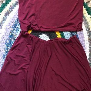 Dresses & Skirts - Infinity dress/ wine color